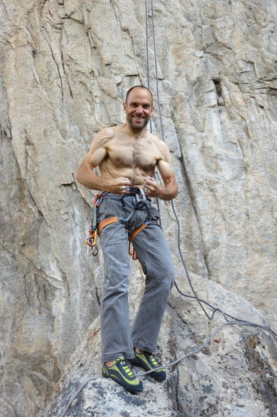 "Rock Climbing Photo: After sending ""Before There Were Nine""."