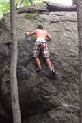 Rock Climbing Photo: Sixth move. After you get to this spot its an easy...