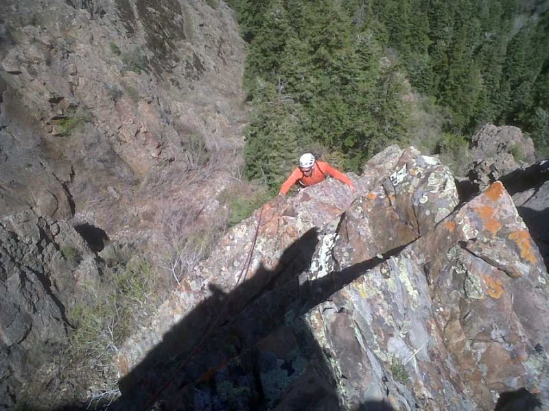 Rock Climbing Photo: tp at the top of pitch two.