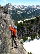 Rock Climbing Photo: Bret on the last move before the summit