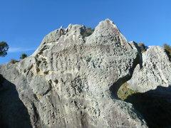 Rock Climbing Photo: The moon boulder
