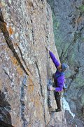 Rock Climbing Photo: The beautiful slab section of the 1st pitch of The...