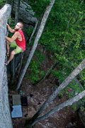 Rock Climbing Photo: TJ Sanford on Block and Tackle