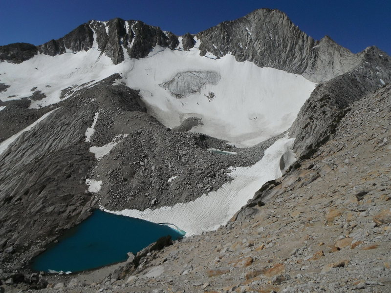 Rock Climbing Photo: North Ridge of Mt Conness with the Conness Glacier...