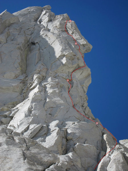 Rock Climbing Photo: Looking up at the Croft-Rands Left from the ground...