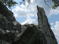 Rock Climbing Photo: P1, Gunsight to South Peak