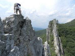 Rock Climbing Photo: P4 traverse