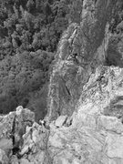 Rock Climbing Photo: View from the top of Windy Corner