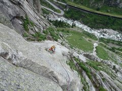 Rock Climbing Photo: heading up P5