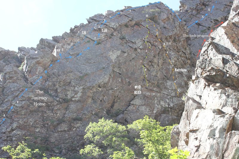Rock Climbing Photo: Overview of the sport routes