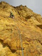 Rock Climbing Photo: Liz at the first bolt (~20+ ft)