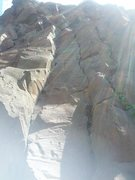 Rock Climbing Photo: From the left: Othello (5.9), Azog (5.9), and Ophe...