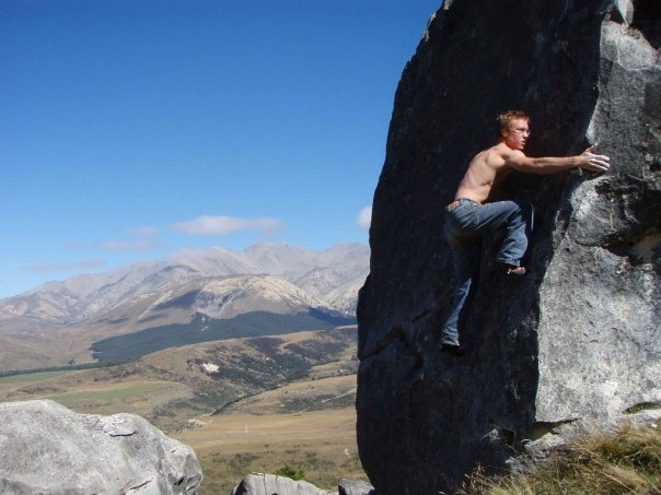 Rock Climbing Photo: Flock Hill, NZ
