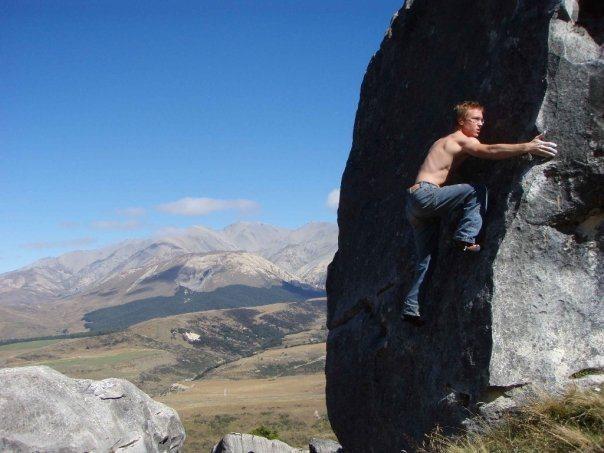 Rock Climbing Photo: Flock Hill, NZ