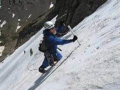 Rock Climbing Photo: Easy Snow route in the Sangre de Cristo Mountains,...