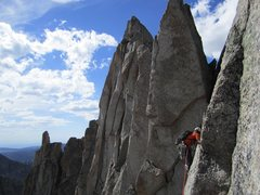 Rock Climbing Photo: East Ridge of Wolf's Head, Wind River Range, Cirqu...