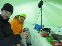 Rock Climbing Photo: Hanging out in the cook tent