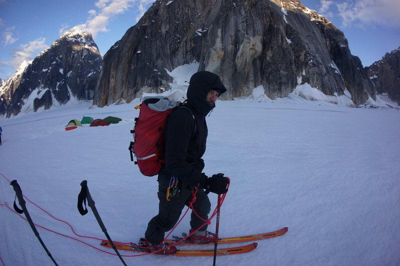 Rock Climbing Photo: Skiing around.