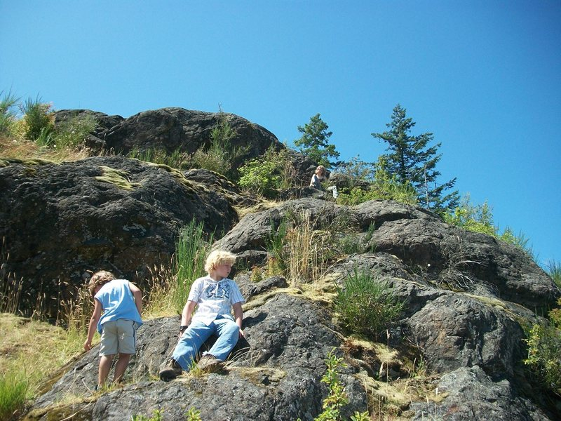 My kids Playing around on top of Big Rock.