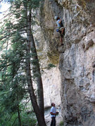 Rock Climbing Photo: Jon Scoville in the pumpy section.
