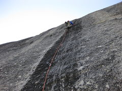 Rock Climbing Photo: On lead Pitch 2
