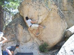 Rock Climbing Photo: Christian Celestino  working his way up the unname...