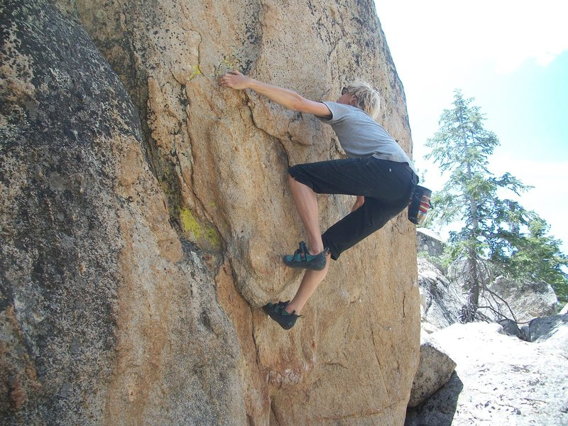 Rock Climbing Photo: Thomas Clemens figuring out the beta.