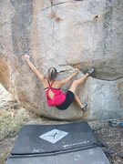 Rock Climbing Photo: Jackie Trejo showing how the short people can send...