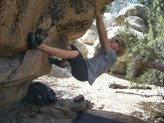 Rock Climbing Photo: Thomas Clement Working on coming right hand to the...