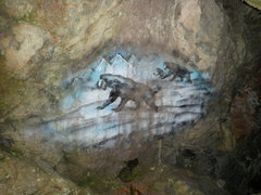 Rock Climbing Photo: There are 2 paintings that have been there for yea...
