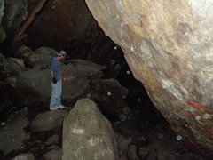 Rock Climbing Photo: This is in the first cave we went in, just under t...