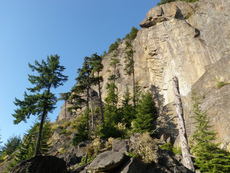 Rock Climbing Photo: Another pic of the cliff.