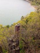 Rock Climbing Photo: Ok so, someone had to do it.  Cleo's needle Plank ...