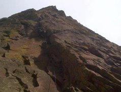 Rock Climbing Photo: Pitch one offwidth variation.