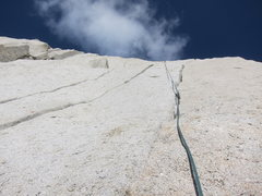 Rock Climbing Photo: Another view of the triple cracks. The first part ...