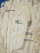 Rock Climbing Photo: Photo Topo/description of the Triple Cracks.