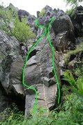 Rock Climbing Photo: left route is Gospel