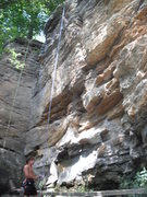 Rock Climbing Photo: Roping up for Brachiator, line to the left of Chip...