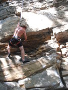 Rock Climbing Photo: Mark at the crux.