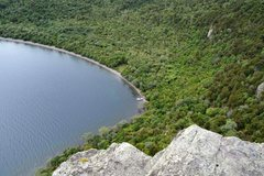 Rock Climbing Photo: Stunning views of the bay from the top of the bluf...
