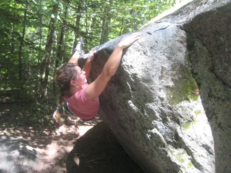 Rock Climbing Photo: Claire on the opening moves of Rebar