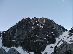Rock Climbing Photo: Morning sun on Dragon Tail