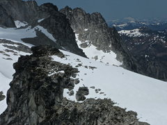 Rock Climbing Photo: Can you find the person on the Sub peak of Little ...