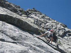 Rock Climbing Photo: This is a 3rd pitch Variation, I found it to be qu...