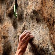 Rock Climbing Photo: Molting grips.