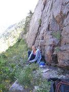 Rock Climbing Photo: Kim Hansen at the base of Sharpie