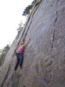 Rock Climbing Photo: Kim fallowing Sharpie