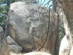 Rock Climbing Photo: Beta photo of the line