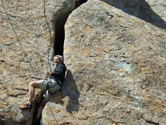 Rock Climbing Photo: After the crux. Taking a deserved rest.