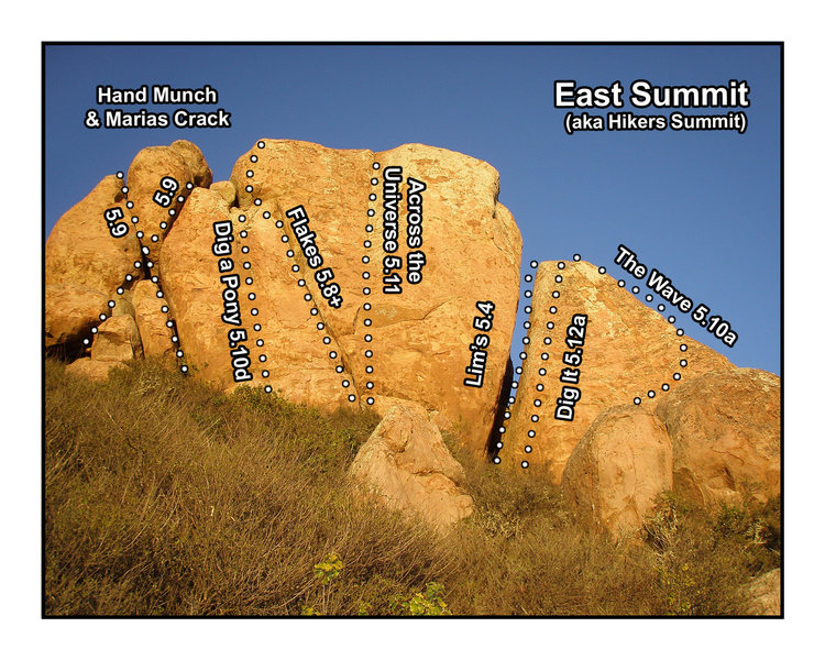 Summit Blocks offers a variety of routes. All can be set up as top ropes.